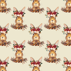 Little Autumn Hare in Soft Beige