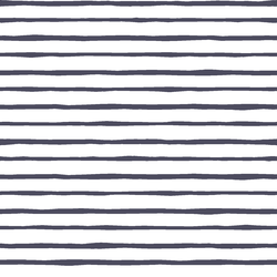 Artisan Stripe in Ink on White