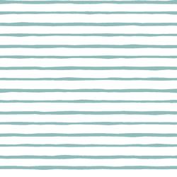 Artisan Stripe in Pool on White