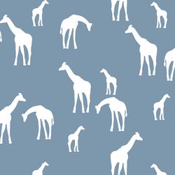 Giraffe Silhouette in Dusk