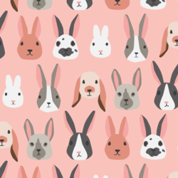 Big Bunny Party in Bubblegum Pink