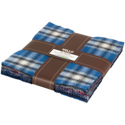 Mammoth Flannel Ten Squares Bundle in Blue