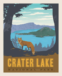 Poster Panel in Crater Lake