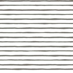 Artisan Stripe in Greige on White