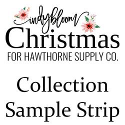 Indy Bloom Christmas Sample Strip