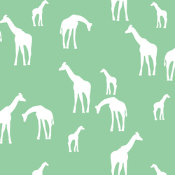Giraffe Silhouette in Sprout