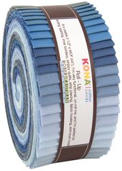 "Kona Solid 2.5"" Strip Roll in Overcast"