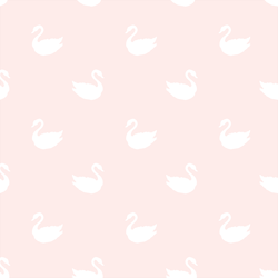 Swan Silhouette in White on Soft Blush