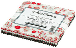 Holiday Charms Charm Squares in Scarlet Colorstory