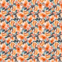 Small Autumn Floral in Warm Orange