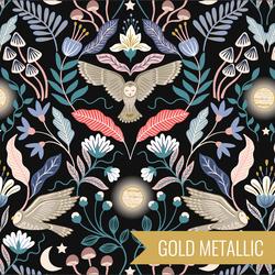 Enchanted Owl in Midnight Metallic