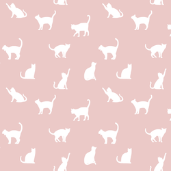 Cat Silhouette in Blush
