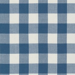 Large Carolina Gingham Yarn Dyed in Denim
