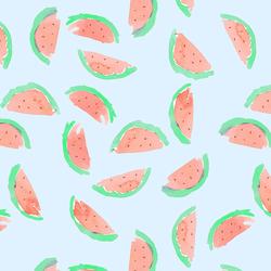 Watermelon in Sky Blue