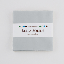 Bella Solids Charm Pack in Zen Grey