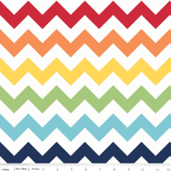 Large Chevron in Rainbow