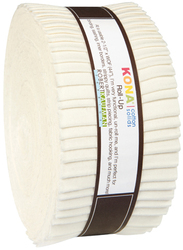 Kona Cotton Solids Roll Up in Snow