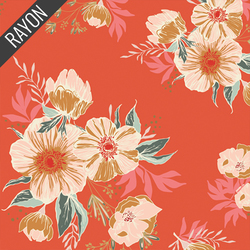 Candied Roses Rayon in Joyful