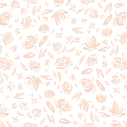 Spring Flowers in Blush on White