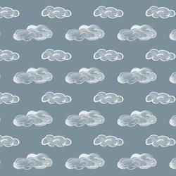 Clouds in Windy Blue