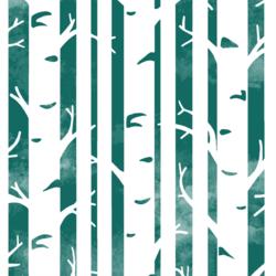 Big Birches in Emerald