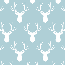 Stag Silhouette in Powder Blue