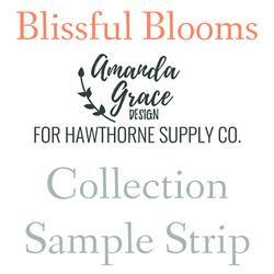 Blissful Blooms Sample Strip