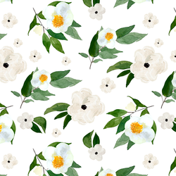 Large Spring Blooms in White