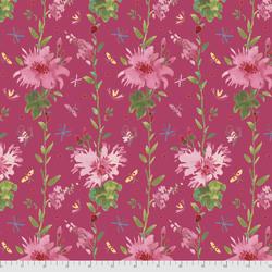 Flower Stripe in Pink