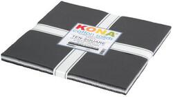 "Kona Solid 10"" Square Pack in Stormy Skies"