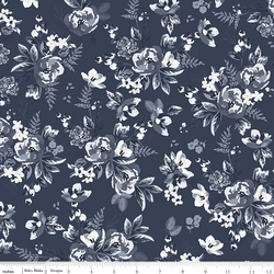 Floral in Navy