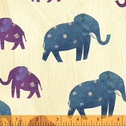 Starry Elephants in Old Paper