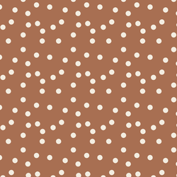 Polka Dot in Cream on Rust Red