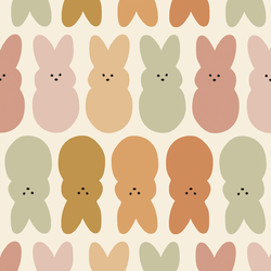 Large Easter Bunnies in Muted Rainbow