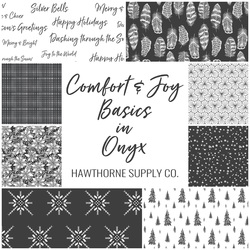 Comfort and Joy Basics Fat Quarter Bundle in Onyx