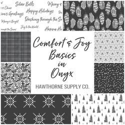 Comfort and Joy Basics Fat Quarter Bundle in Onyx