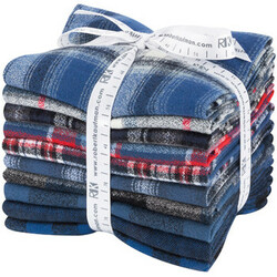 Mammoth Flannel Fat Quarter Bundle in Blue