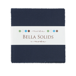 Bella Solids Charm Pack in Navy Blue