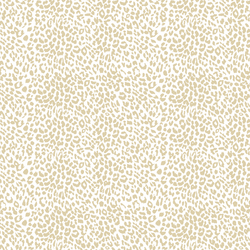 Small Leopard in Soft Taupe on White