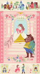 Beauty & the Beast Panel in Pink
