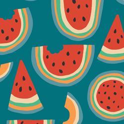 Rainbow Melon in Summer Days