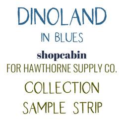Dinoland Sample Strip in Blues
