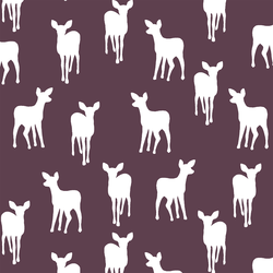 Fawn Silhouette in Raisin
