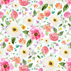 Sweet Treat Floral in Rainbow