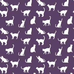 Cat Silhouette in Aubergine
