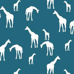 Giraffe Silhouette in Topaz