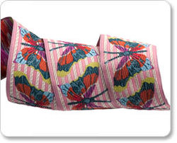 Stripe Butterfly in Pink