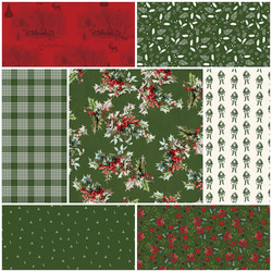 Yuletide Fat Quarter Bundle in Green
