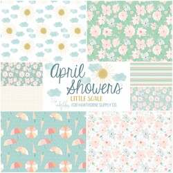 April Showers Fat Quarter Bundle Little Scale