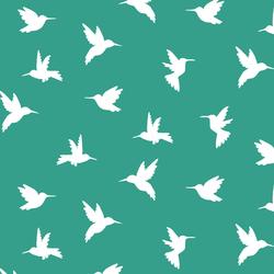 Hummingbird Silhouette in Jade